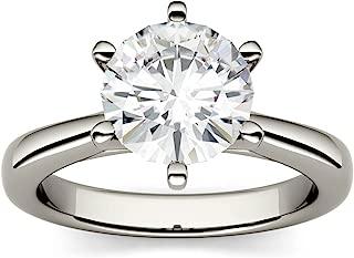 champagne moissanite engagement rings