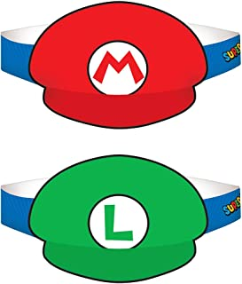 Super Mario Party Birthday Supplies 16 Pack Party Hats