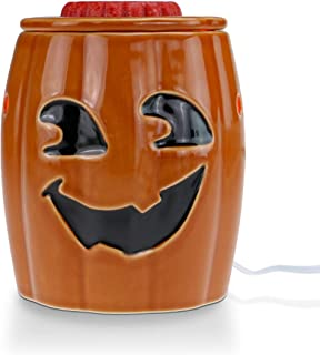 STAR MOON Wax Melt Warmer Electric, Candle Warmer for Wax Melt, Home Fragrance Diffuser, Home Décor, No Flame, with One More Bulb (Jack O'Lantern)
