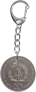 Miniblings 20 Mark DDR Münze Schlüsselanhänger echtes Geld Upcycling Ostalgie - Handmade Modeschmuck I I Anhänger Schlüsselring Schlüsselband Keyring