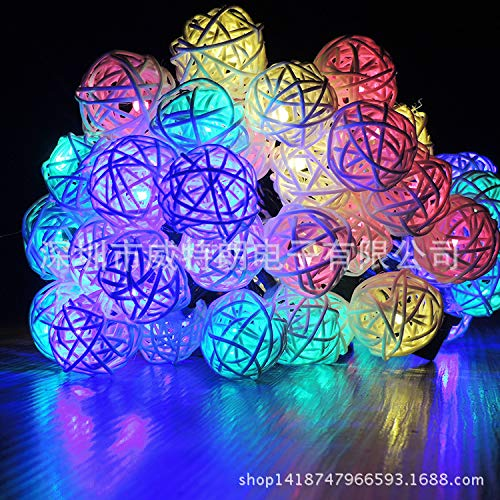 Les Lantern Menées Lichtketting, waterdicht, led-snoer Fee, voor buiten, touw, van rotan, solar, 30 lampen, warmwit