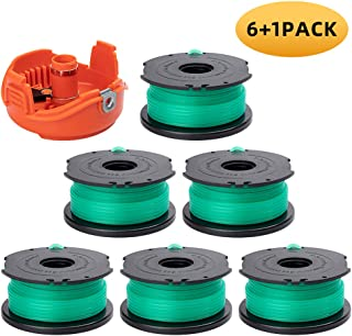 """ZONOWN 8 Pack Weed Eater Replacement Spools Compatible with Black&Decker String Trimmer SF-080 GH3000 GH3000R LST540 LST540B, 20ft 0.080"""" Trimmer Line with 90583594 Spool Cap (8 Spools, 2 Caps)"""