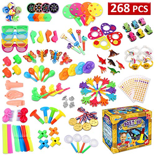 iBaseToy 268PCS Party Favors for Kids Prizes, Pinata Filler Toys for Carnival | Halloween Treat Bags, School Classroom Rewards for Boys Girls | Bulk Assortment Toys Best for Birthday Party