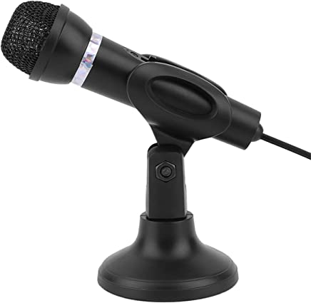 Dailyinshop Microfono da Tavolo per Notebook KTV-307 Microfono da Tavolo Karaoke con Microfono da 3,5 mm con Base per la Registrazione di Canto, Nero - Trova i prezzi più bassi