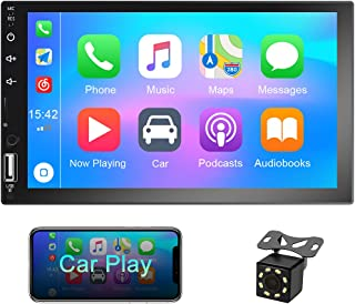 Double Din car Stereo 7 inch Touch Screen Car Radio with Bluetooth FM, with USB/AUX/SD Card Input, Android & iOS Mirror Li... photo