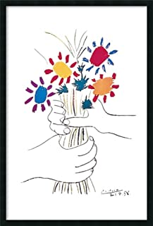 pablo picasso hand with flowers
