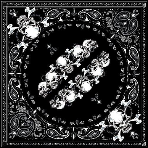 ZANheadgear Pañuelo de algodón, Skull Row, OSFM