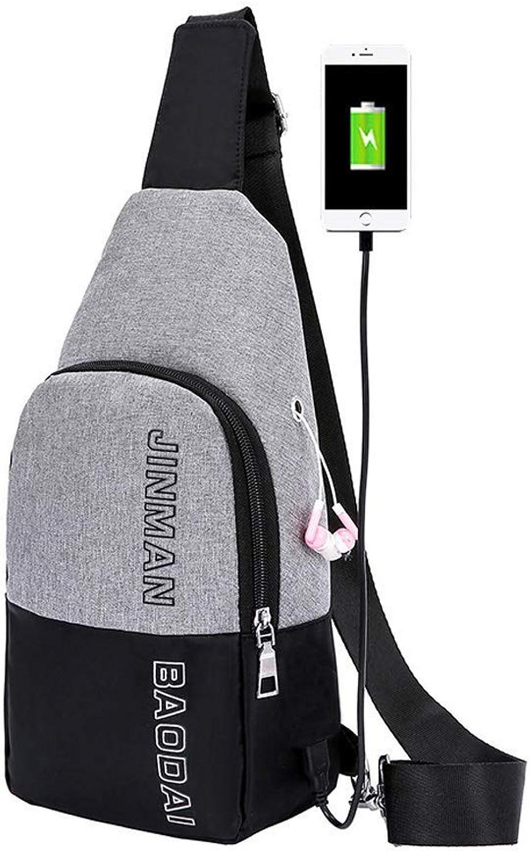 Adjustable Straps Men Single Shoulder Bag Backpack for Leisure Student(bluee)