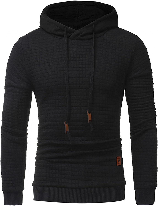 Aayomet Men's Hoodies Pullover Casual Soft Plaid Sweatshirts Comfy Loose Long Sleeve Athletic Sweatshirts