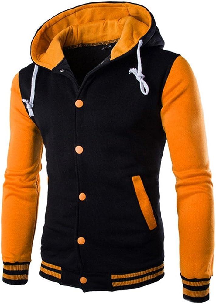 NIUQI Men's Casual Coat Jacket Outerwear Sweater Winter Slim Hoodie Warm Sweatshirt