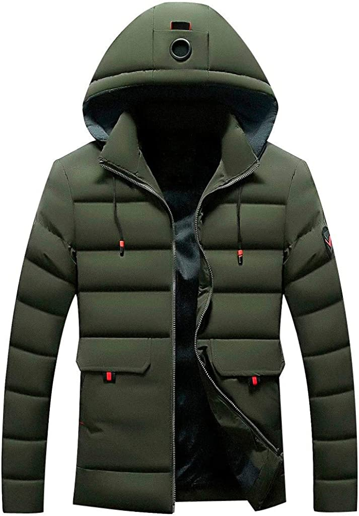 Stoota Men's Waterproof Hooded Rain Jacket, Lightweight Packable Raincoat for Outdoor, Camping, Travel L- 4XL Army Green