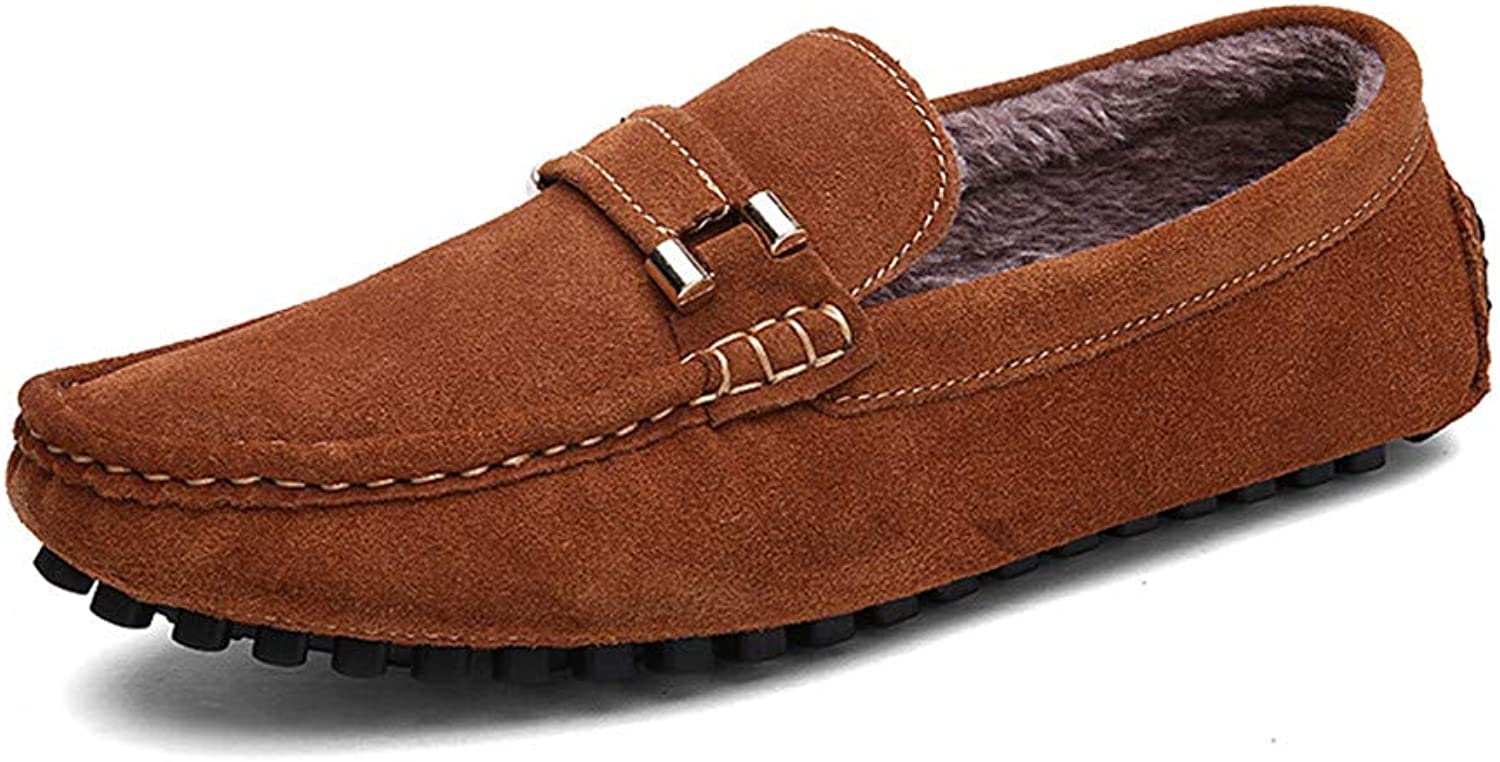 XXY Men Driving Loafers Casual Classic Autumn Winter Velvet Warm Style Boat Moccasins Semi