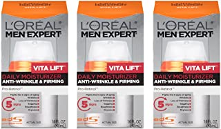 L'Oreal Paris Skin Care Men Expert Vita Lift Anti-Wrinkle and Firming Daily Moisture, 1.6 Ounce, 3 Count