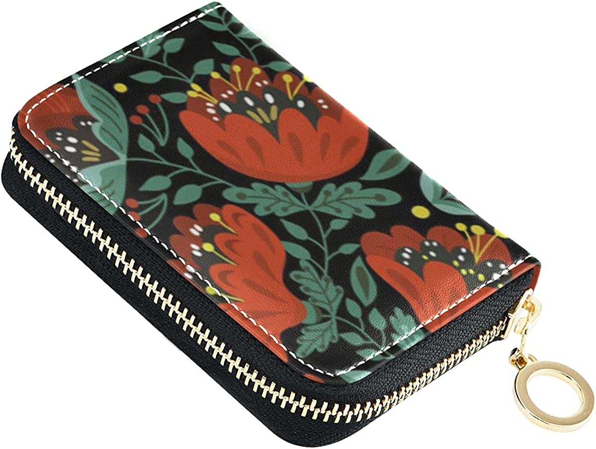 Credit Card Wallet for Popular brand Women Leather Cards Limited Special Price Cases Fruits Flowers