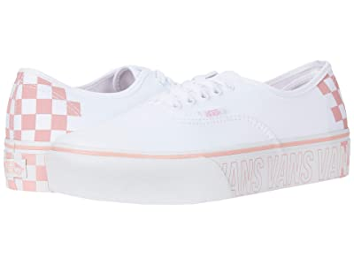 Vans Authentic Platform 2.0 (True White/Multi) Skate Shoes