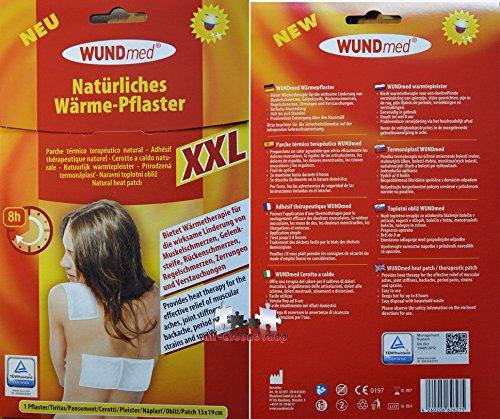 Wärmepflaster 19x13 cm xxl Schmerzpflaster Wundmed 8h Rücken Pflaster Wärmepad Nacken Wärmekissen Wärme Wärmepad verspannung muskelschmerzen