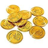 German Trendseller - 32 x monedas de oro piratas┃tesoro pirata┃fiesta pirata┃ búsqueda del tesoro┃ fiestas infantiles┃ idea de regalo┃piñata┃cumpleaños de niños┃ 32 unidades