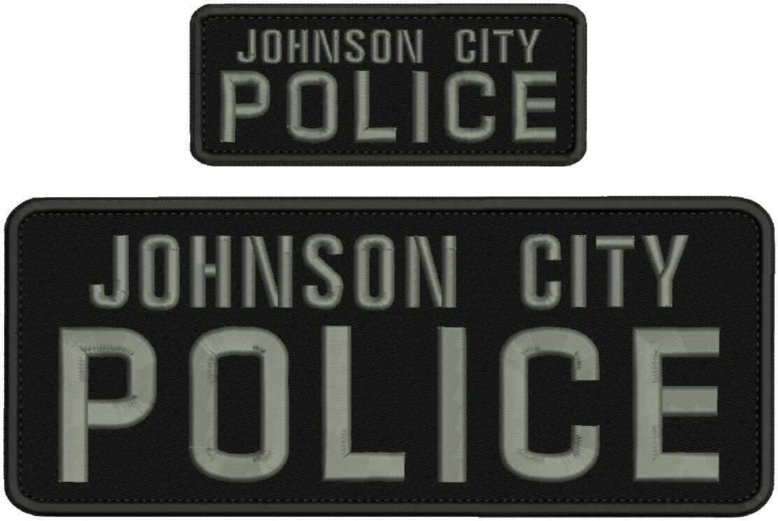 Johnson City Police Embroidery Patch 4X10 Back and 67% OFF of fixed price ON 2X5 Hook Direct stock discount B