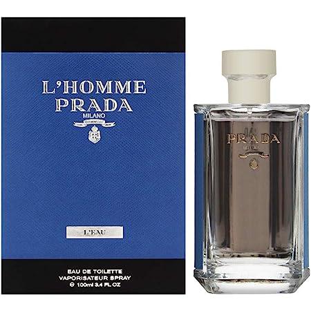 Prada Lhomme Prada Leau for Men Eau De Toilette Spray, 3.4 Ounce