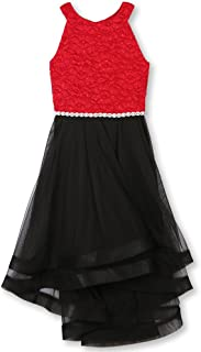 Speechless Girls' Big 7-16 Tween Formal Dance Or Party Dress with Wide Ribbon Hem