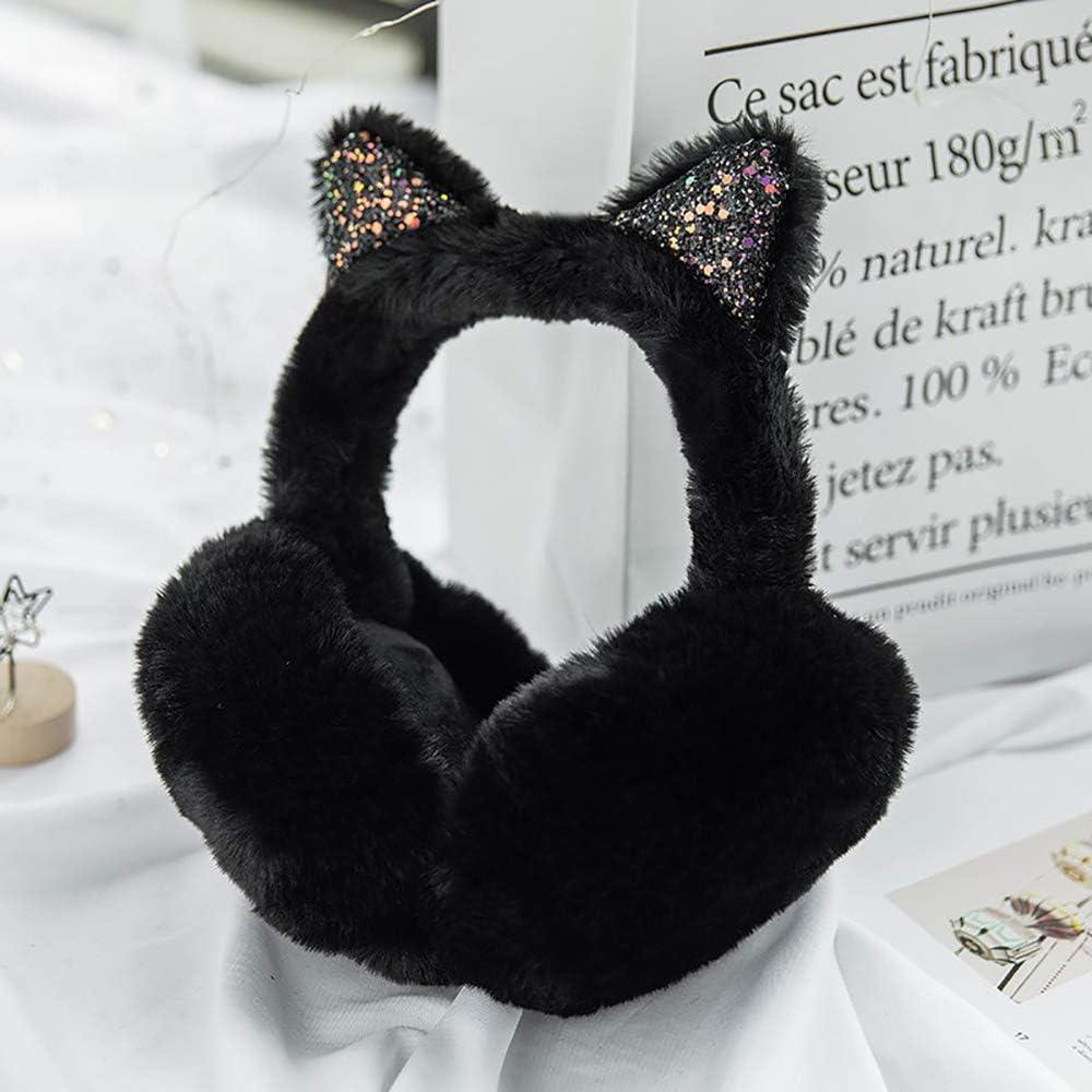 Windproof Foldable Earmuffs Adjustable - Cartoon Cat Ear Winter Accessory Unisex