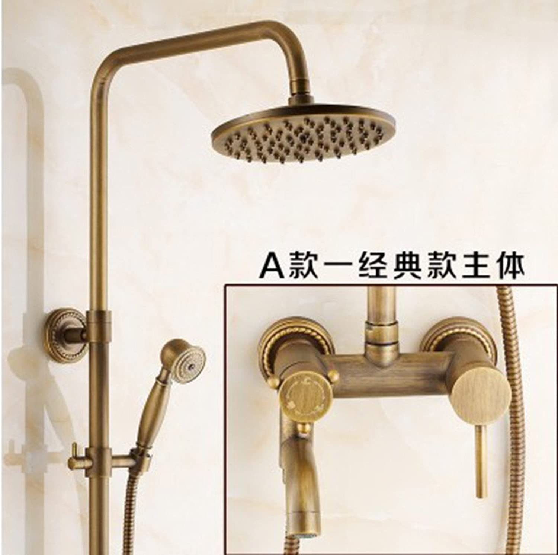 ZQ@QX Antik-Kupfer retro American Bad Dusche, Abschn. B)