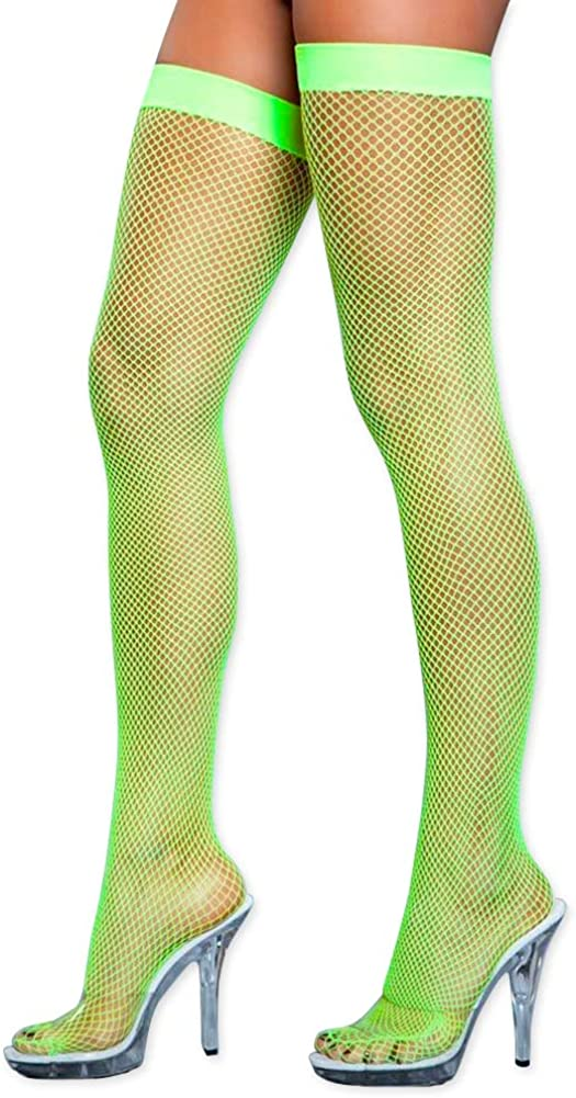 Women's Colored Fishnet High Stockings Limited price Today's only Thigh