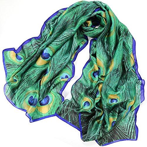 YRXDD Écharpe en Soie à châle Sauvage de Style National écharpe Solaire à Double Usage en éponge Grande Femme à Serviette de Plage (90 * 180 cm),Paume Tsui YU