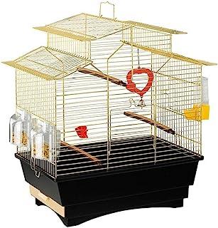 Bird House Bulk Stainless Steel Bird Cage Big Parrot Cage Thrush Pigeon Villa Metal Bird Cage Portable Small Sized Birds T...