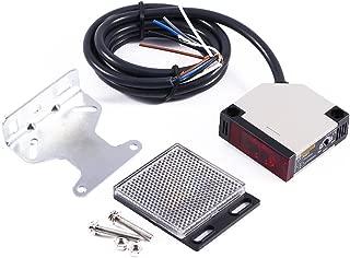 Interruptor fotoeléctrico E3JK-R4M1 90-250V AC, Sensor fotoeléctrico Keenso Interruptor especular E3JK-R4M1 Sensor de barrera de luz refleja