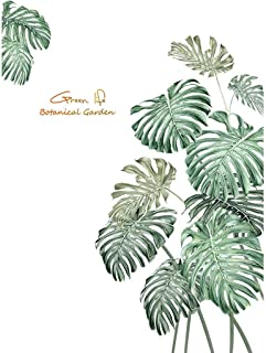 Dolloress DIY Palm Leaves Wall Stickers Wall Affixed Mural Removable Window Clings Decal for Home Shop Window Wall Decoration