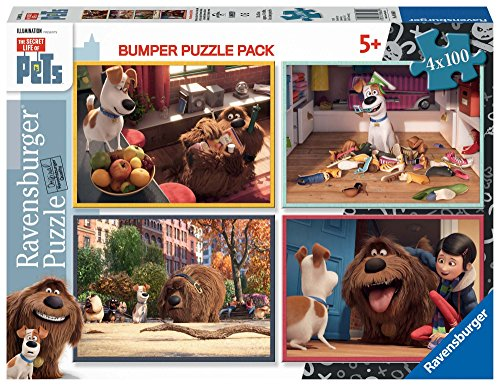 Secret Life Of Pets - Bumper Pack, Puzzles 4 x 100 Piezas (Ravensburger 06860)