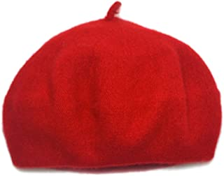 Adela Boutique Unisex Babies Woolen Berets Solid Classic Kids Beanie Cap Winter Warm Hat