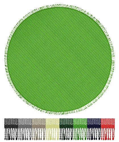 Brandsseller Gartentischdecke Tischdecke - wetterfest und rutschfest für Garten, Balkon und Camping - Rund 160 cm - Farbe: Hellgrün