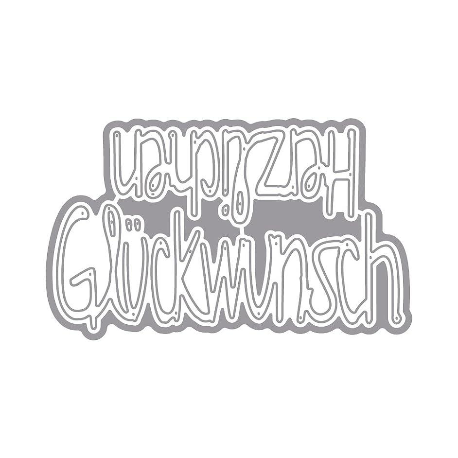 Rayher Punching Stencil Set: Herzlichen Glckw Tab-Bag 2 Pieces