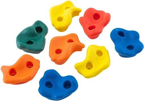 Hörby Bruk 4111 - Juego de agarres de escalada (8 unidades, plástico, para paredes de escalada, interiores y exteriores), multicolor , color/modelo ...