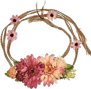 YAZILIND Bohemia Estilo Flor Pretina Floral Garland Playa Faja Foto apoyos