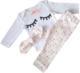 Yilaku Newborn Baby Clothes Set Toddler Romper+Camouflage Pants+Headband 3PCS Baby Boy Girls Outfits Set