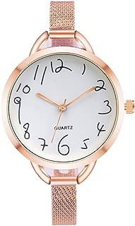 Triskye Womens Analog Quartz Watches Classic Luxury Business Casual Crystal Stainless Steel Strap Band Wrist Watch Pointer Ladies Wristwatch Bracelet for Teen Girls