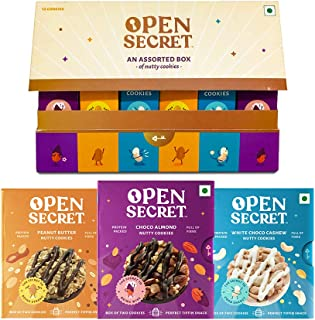 Open Secret Combo Snacks- Healthy Chocolate Cookies with Nuts | Almond, Cashew, Peanut |No Added Maida, Family & Back to S...