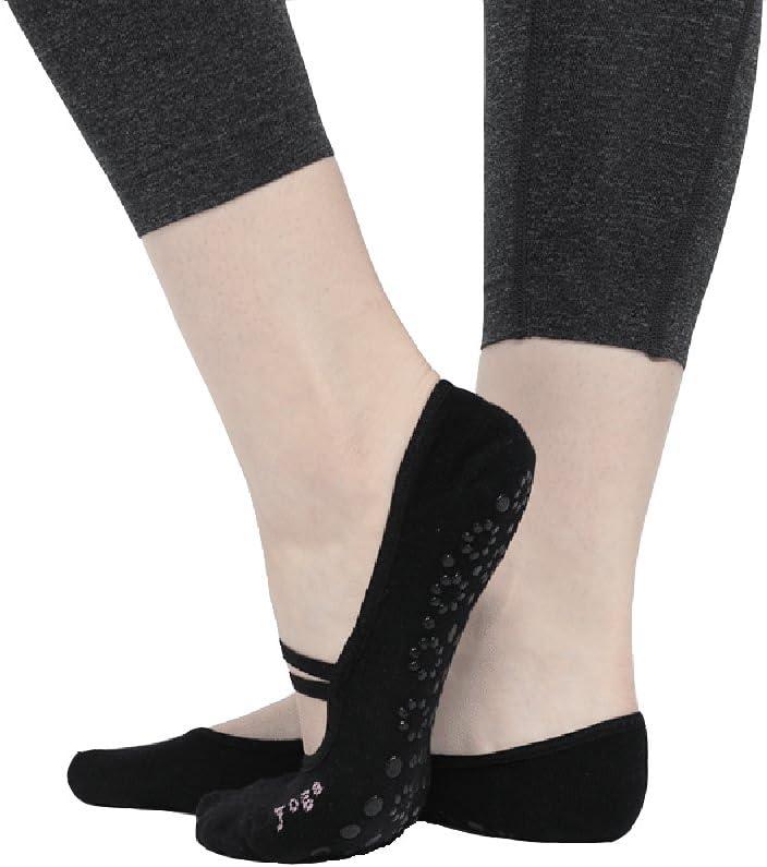 CBValleyol Calcetines de Yoga Pilates Calcetines Fitness/Danza/Ballet Calcetín para Mujer Tamaño UK 2,5-7 / EU 35-40: Amazon.es: Deportes y aire libre