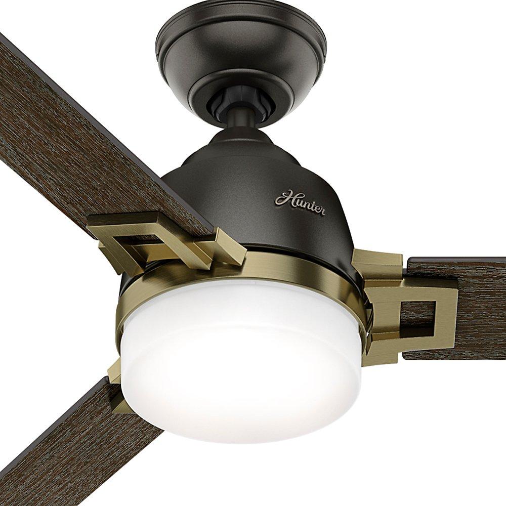 Hunter 59220 48 Leoni Ventilador de techo con luz con mando