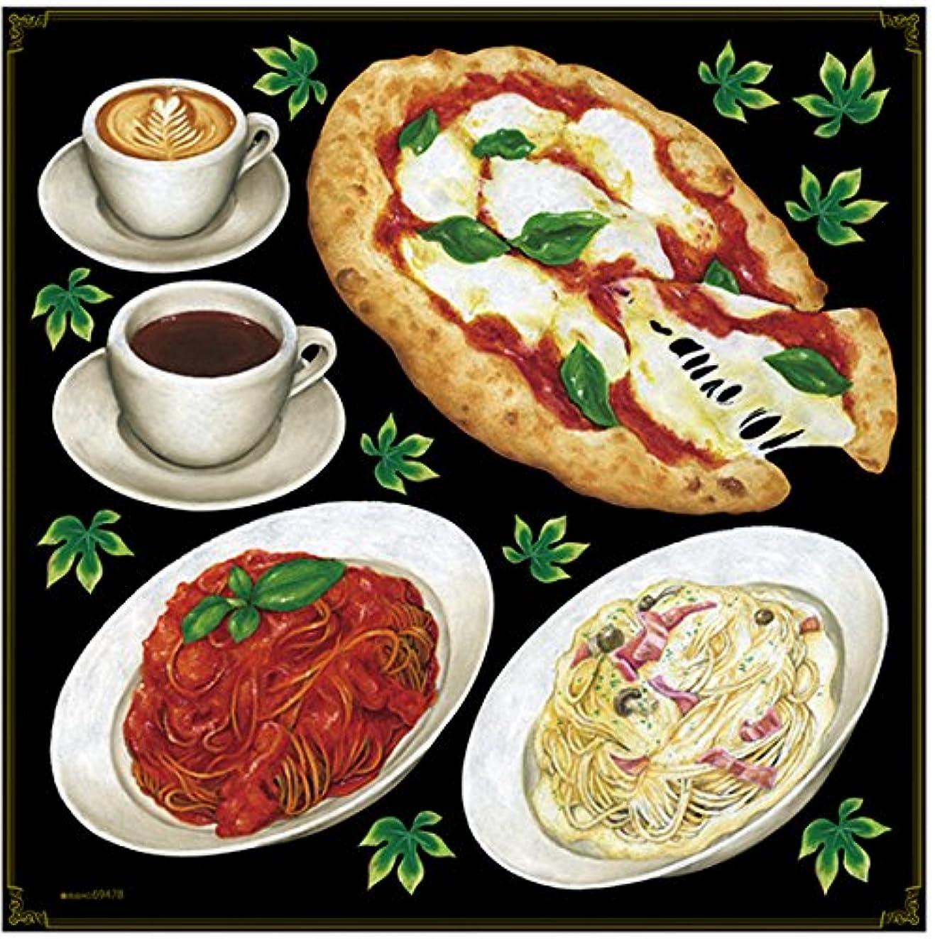 種をまく有名準備するPデコレーションシール 69478 ピザ パスタ コーヒー