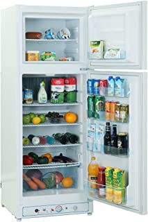 SMETA 110V/Gas Propane Refrigerator Fridge Up Freezer, 9.4 Cu.Ft, White