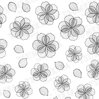 TSUMEKIRA rrieenee×filer Product1 Organdy Flower Black nail stickers gel art nail art design japan Product