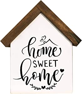 Cocomong Farmhouse Home Decor, Wood House Shaped Block, Home Sweet Home Decor, Rustic Tiered Tray Decor Items, Small Decor Items for Shelf, Modern Decor for Living Room, Bedroom
