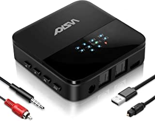 WSKY Bluetooth 5.0 トランスミッター レシーバー 一台二役 受信機 送信機 高音質 低遅延 光デジタル RCA AUX SPDIF接続 22時間連続作動