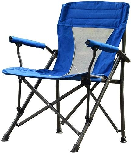 DYFAR Chaise de Camping Pliante Chaise de Jardin Ultra légère de pêche, Chaise extérieure portative compacte de capacité 150kg résistante avec Sac de Transport pour Les activités, bleu