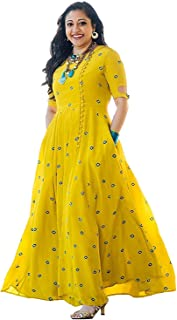 31b6562a21 Smit fashion Women Georgette Long Anarkali Salwar Suit/Gown With Dupatta