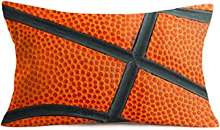 Easternproject Sports Basketball Design Throw Pillow Covers Waist Lumbar Personalized Cushion Cover New Home Room Bedding Decorative Rectangular 12x20 Inch Pillow Cases USA Game Balls
